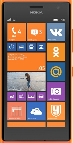 Nokia Lumia 735 LTE Orange РСТ