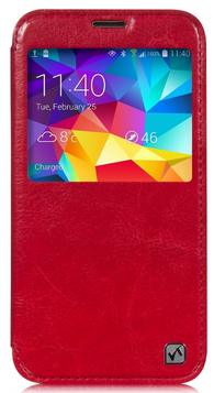 Чехол Hoco Crystal Series Leather case for Samsung Galaxy S5 G900 Red