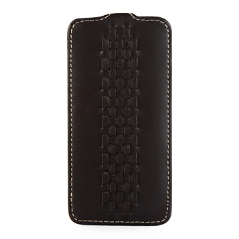 Чехол TETDED Premium Leather Case для Samsung Galaxy S4 / IV / I9500 / I9505 / Active I9295 i537 Troyes Weave: Prestige Dark Brown057