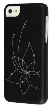 Накладка iCover для iPhone 5C Swaroski New Design SW13 IPM-SW13-BK Black