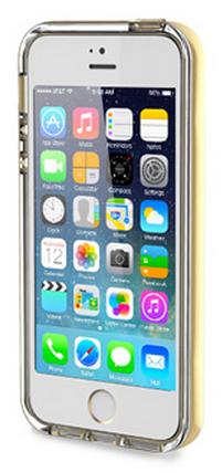 Накладка Rock для iPhone 5/5S Light Tube Series Gold