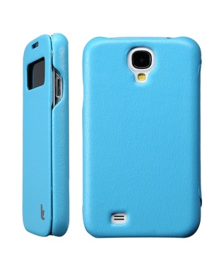 Чехол JisonCase Smart Leather Case для Galaxy S4 Mini i9190 / i9192 / i9195 Blue