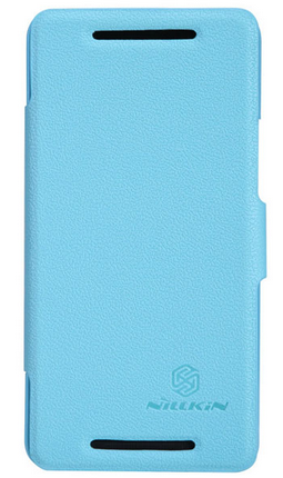 Чехол Nillkin Fresh series leather case для HTC New One M8 Blue