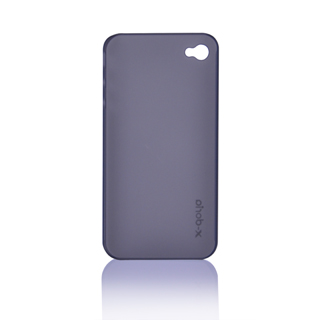 Бампер X-DORIA Slim-fit case  for iphone 4 Transparent Black