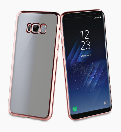 Muvit Bling Case для Samsung Galaxy S8 Plus G955FD с розовой рамкой