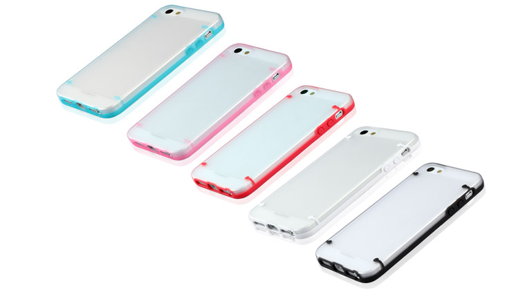 NUOKU для IPhone 5 JOY Series Dual-tone Soft-touch Cover Pink