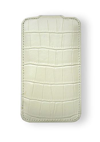 Чехол Melkco Leather Case for Apple iPhone 4 Jacka Type Crocodile White