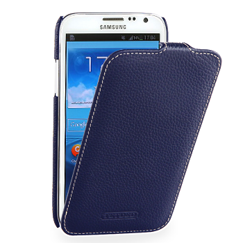 Чехол TETDED Premium Leather Case для Samsung Galaxy Note 2 N7100 / N7108 Troyes Navy Blue