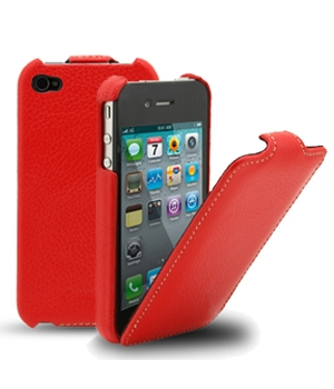 Чехол Melkco Leather Case for Apple iPhone 4 Jacka Type (Red LC)