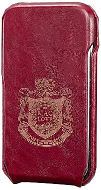 MacLove Leather Case Code 7-7 Wine Red for iPhone 3GS