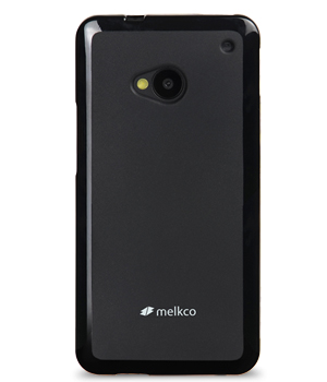 Накладка на заднюю часть Melkco Poly Jacket TPU Case для HTC One M7 Black Mat
