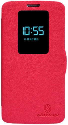Чехол Nillkin Fresh series leather case  для LG Optimus G2 D802 Red