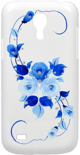 Накладка iCover для Samsung Galaxy S4Mini Hand Printing Vintage Rose GS4M-HP/W-VR/BL White/Blue