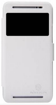 Чехол Nillkin Fresh series leather case для HTC One E8 White