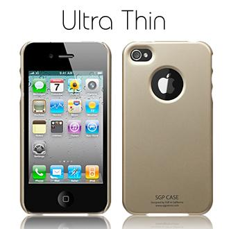 Чехол SGP Ultra Thin Case Matte Series Champagne Gold for iPhone 4 (Steinheil Crystal LCD Screen)