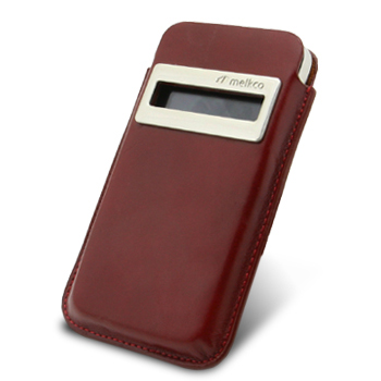 Melkco Leather Case iCaller Pouch Vintage Red Ver.2 for iPhone 4