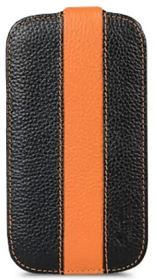 Чехол Melkco Leather Case для Samsung Galaxy S 4 I9500 LE Jacka Type Black/Orange