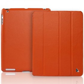 Чехол JisonCase Smart Leather Case Premium Edition для IPad 4 / IPad 3 / IPad 2 Оранжевый