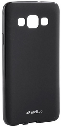 Накладка на заднюю часть Melkco Poly Jacket TPU Case для Samsung Galaxy E5 E500 Black Mat