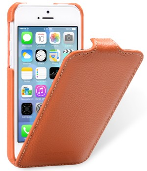 Чехол Melkco Leather Case for Apple iPhone 5C Jacka Type Orange LC