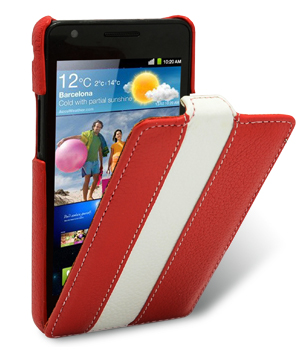 Чехол Melkco  Samsung I9100 Galaxy S II  Red/White LC
