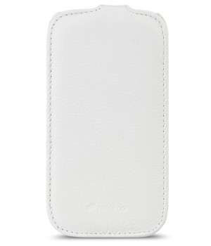 Чехол Melkco Leather Case for Samsung Galaxy S3 Mini I8190 Jacka Type (White LC)
