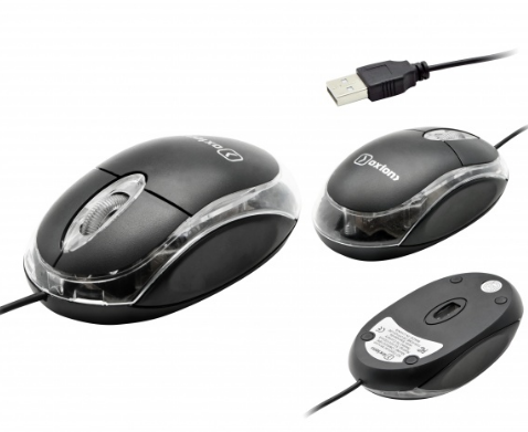 Partner Мышь проводная Oxion 1000DPI, USB с подсветкой Black