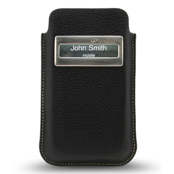 Melkco Leather Case iCaller Pouch Black LC for iPhone 4 fit with Bumper