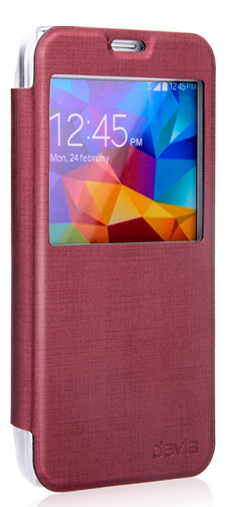 Чехол Devia Luxuri Series для Samsung Galaxy S5 G900 Red