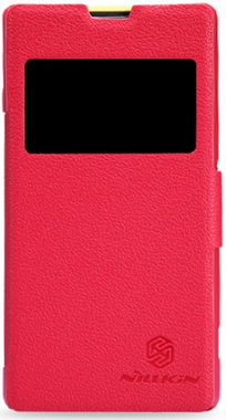 Чехол Nillkin Fresh Series Leather Case для Sony Xperia Z1 Compact D5503 Red