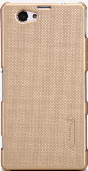 Чехол Nillkin Super Frosted Shield для Sony Xperia Z1 Compact D5503 Gold