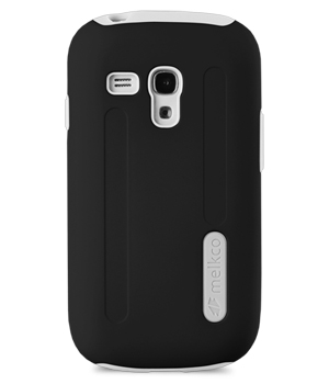 Накладка на заднюю часть Melkco Double Layer Case Kubalt Type для Samsung Galaxy S3 Mini I8190 Black/White