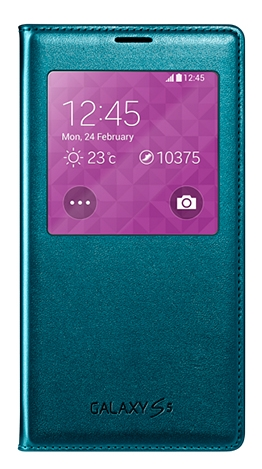 Чехол Flip Cover для Samsung Galaxy S5 G900 Green