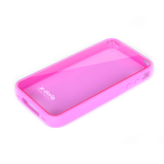 Бампер X-DORIA Dual material case  for iphone 4 Pink