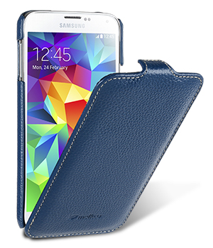 Чехол Melkco Leather Case для Samsung Galaxy S5  G900f  Jacka Type Dark Blue