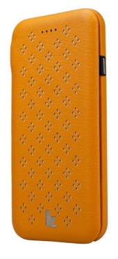 Чехол JisonCase Flip Case With Flower Pattern для iPhone 6 4.7 Yellow