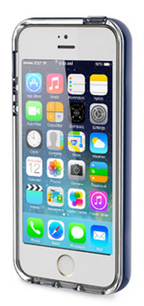 Накладка Rock для iPhone 5/5S Light Tube Series Navy Blue