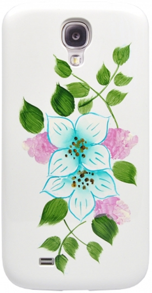 Накладка iCover для Samsung Galaxy S4 Flowers SG01 GS4-HP/W-SG01