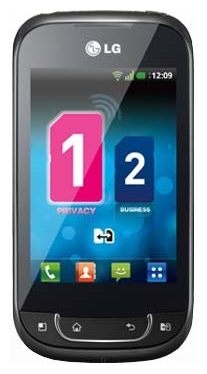 LG Optimus Link Dual Sim P698 Black