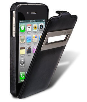 Melkco Leather Case for Apple iPhone 4 Jacka ID Type (Vintage Black)