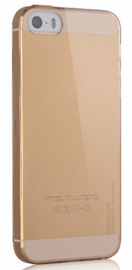 Накладка BASEUS Crystal Case для Iphone 5/5S Gold
