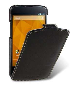 Чехол Melkco Leather Case for LG Nexus 4 E960 Jacka Type (Black LC)