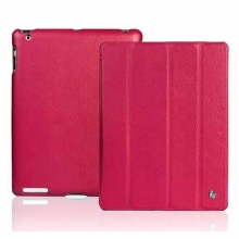 Чехол JisonCase Smart Leather Case для IPad 4 / IPad 3 / IPad 2 Малиновый