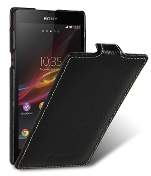 Чехол Melkco Leather Case for Sony Xperia Z Jacka Type (Black LC)