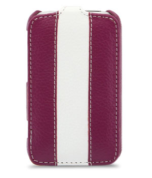 Чехол Melkco Leather Case for HTC Wildfire S Jacka Type Purple/White LC