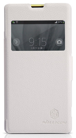 Чехол Nillkin Fresh Series Leather Case  для Sony Xperia Z1 Compact D5503 White