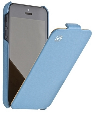 Чехол для Apple IPhone 5 Hoco Case Leather Case Blue