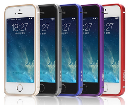 Rock металлический Slim Guard series для Iphone 5/5S Blue