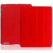 Чехол JisonCase Smart Leather Case для IPad 4 / IPad 3 / IPad 2 Красный