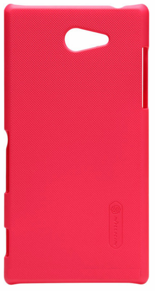 Чехол Nillkin Super Frosted Shield для Sony Xperia M2 Dual sim D2302/D2303/D2305 Red